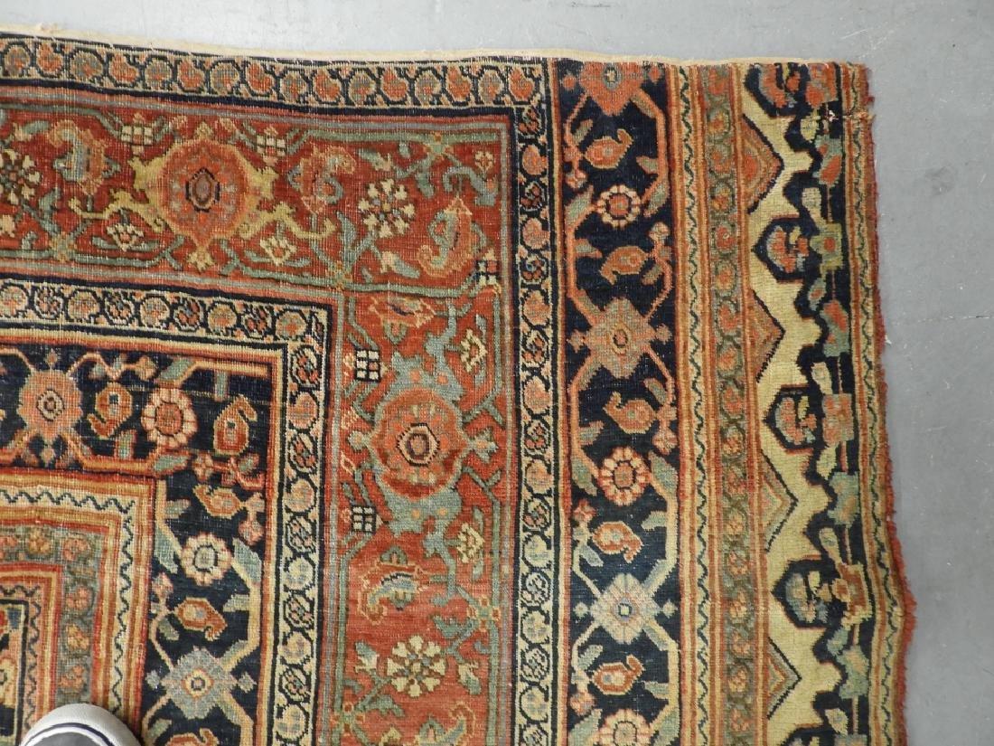 C.1900 Persian Middle Eastern Bidjar Carpet Rug - 6