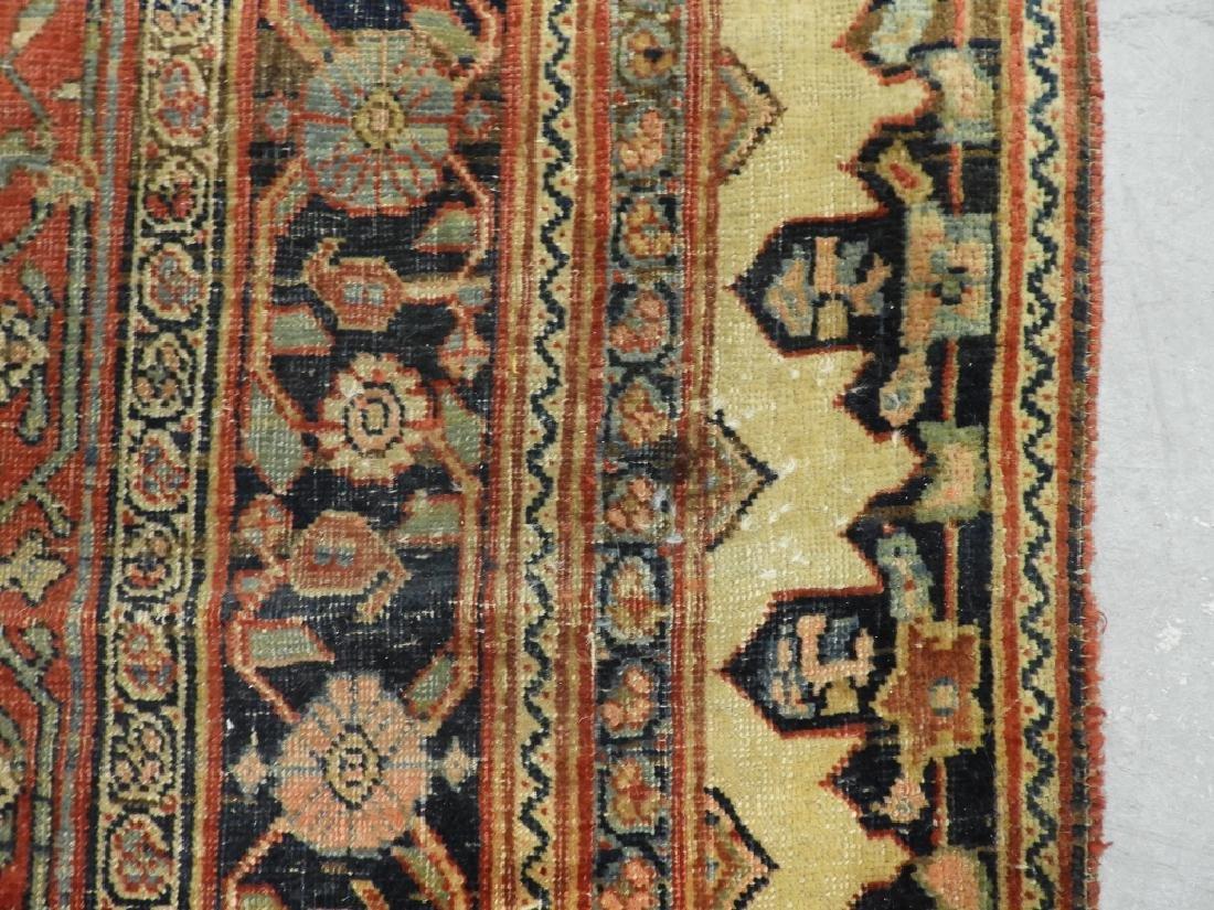 C.1900 Persian Middle Eastern Bidjar Carpet Rug - 7