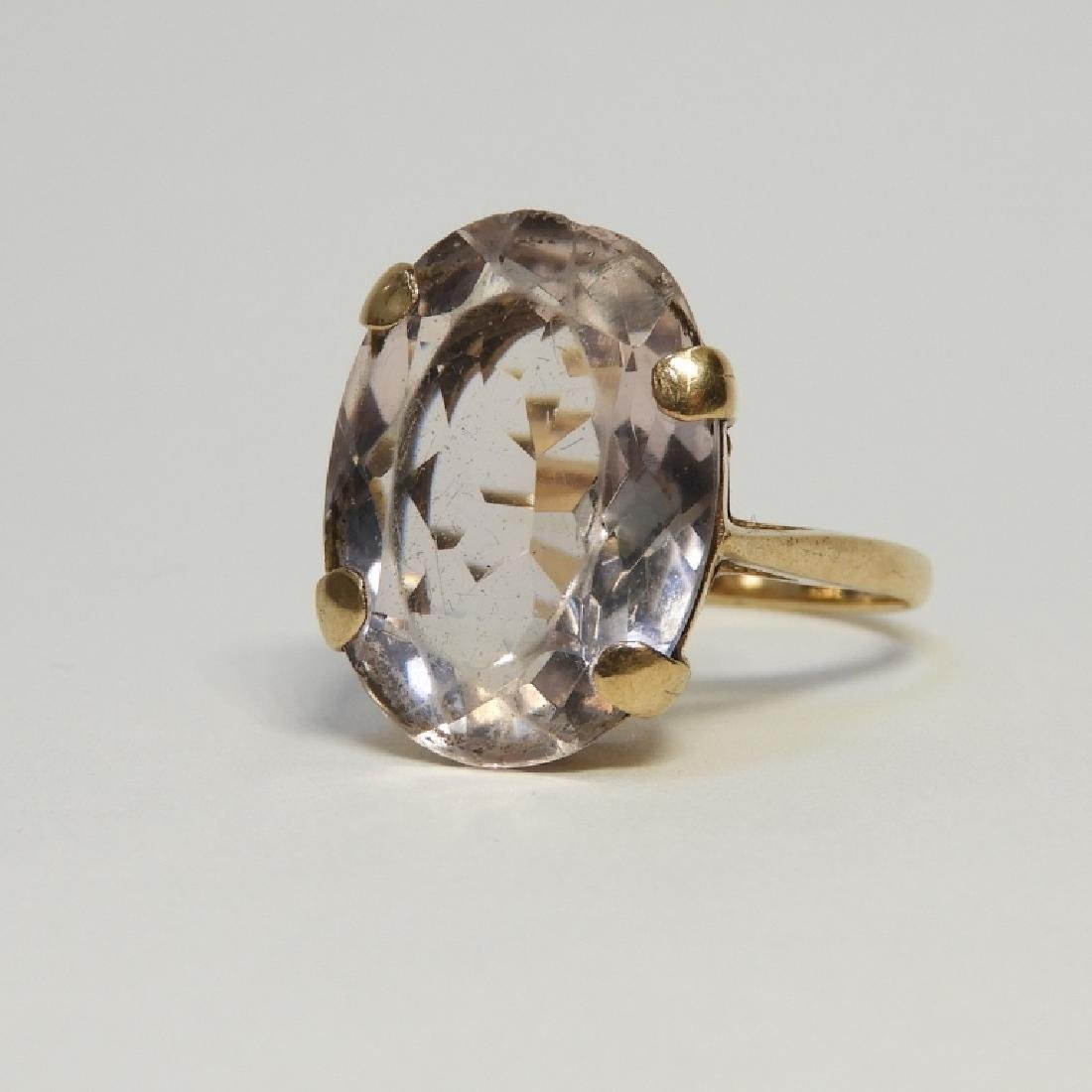 Estate 14K Yellow Gold Pale Amethyst Lady's Ring