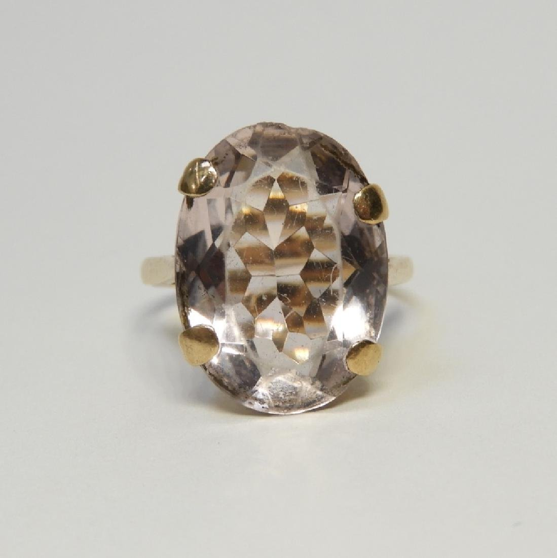 Estate 14K Yellow Gold Pale Amethyst Lady's Ring - 2