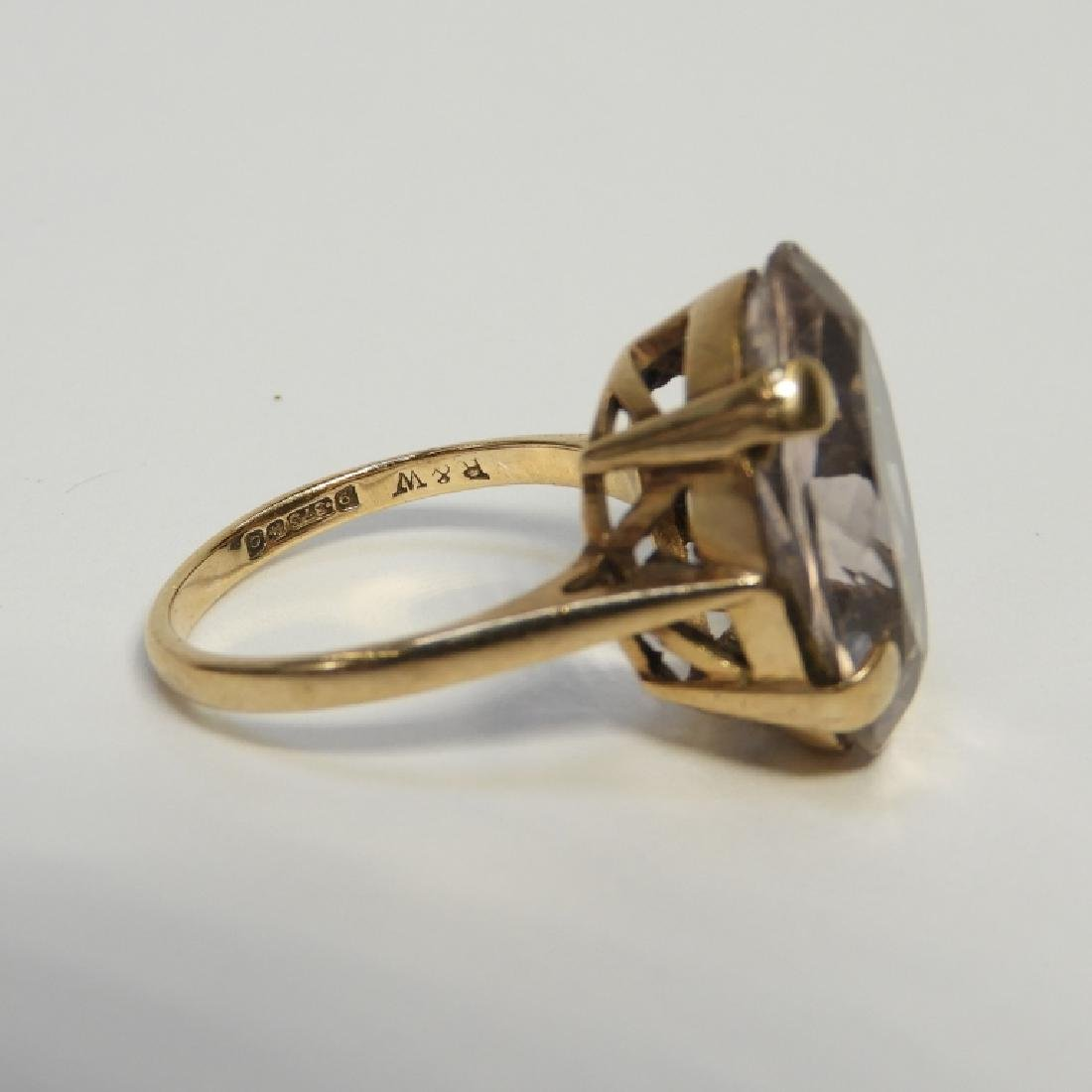Estate 14K Yellow Gold Pale Amethyst Lady's Ring - 4