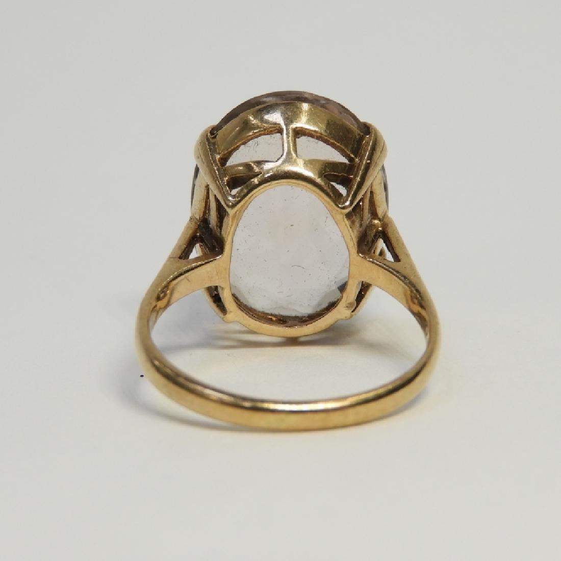 Estate 14K Yellow Gold Pale Amethyst Lady's Ring - 5