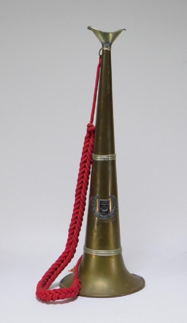 19C Fireman Fire Fighter Brass #5 Parade Bugle