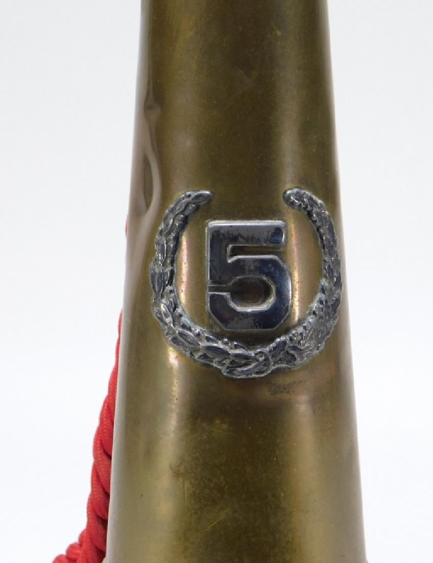 19C Fireman Fire Fighter Brass #5 Parade Bugle - 3