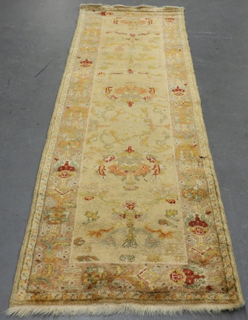 Persian Oushak Angora Wool Rug Carpet Runner