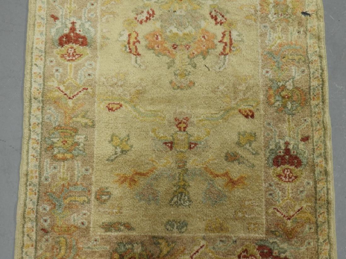 Persian Oushak Angora Wool Rug Carpet Runner - 2