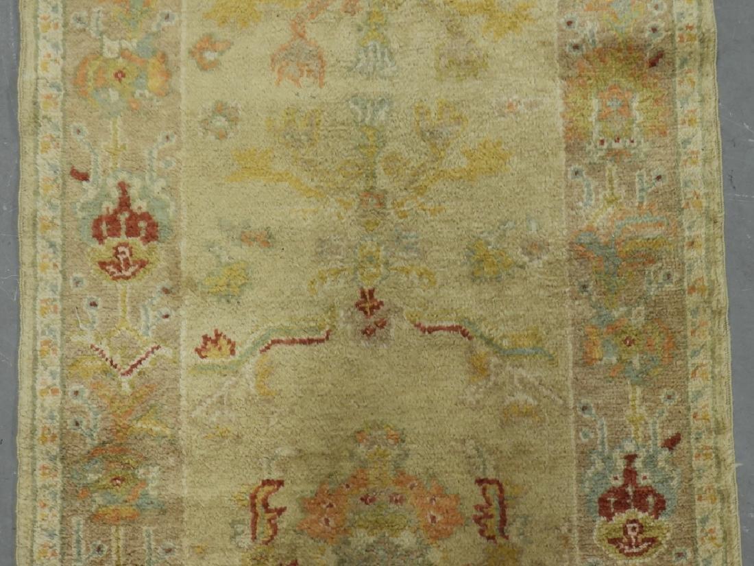 Persian Oushak Angora Wool Rug Carpet Runner - 3