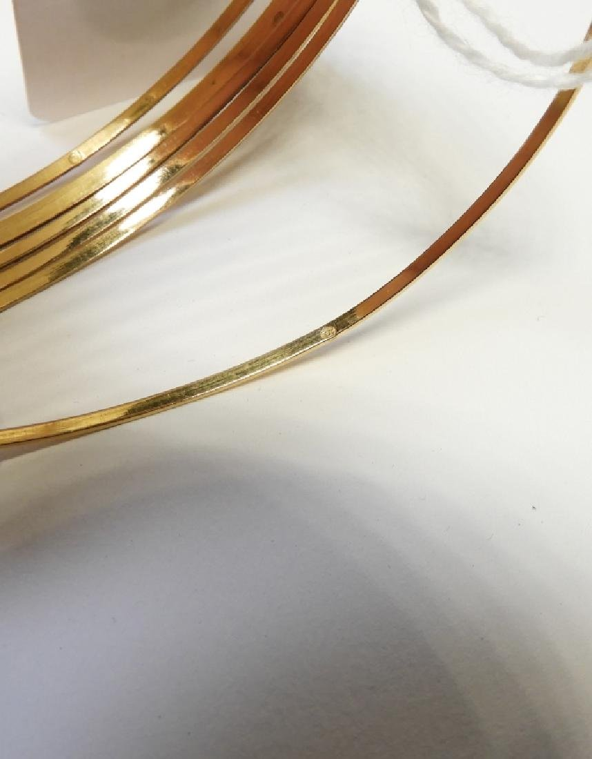 18K Gold Seven Day Etched Heart Charm Bracelets - 2