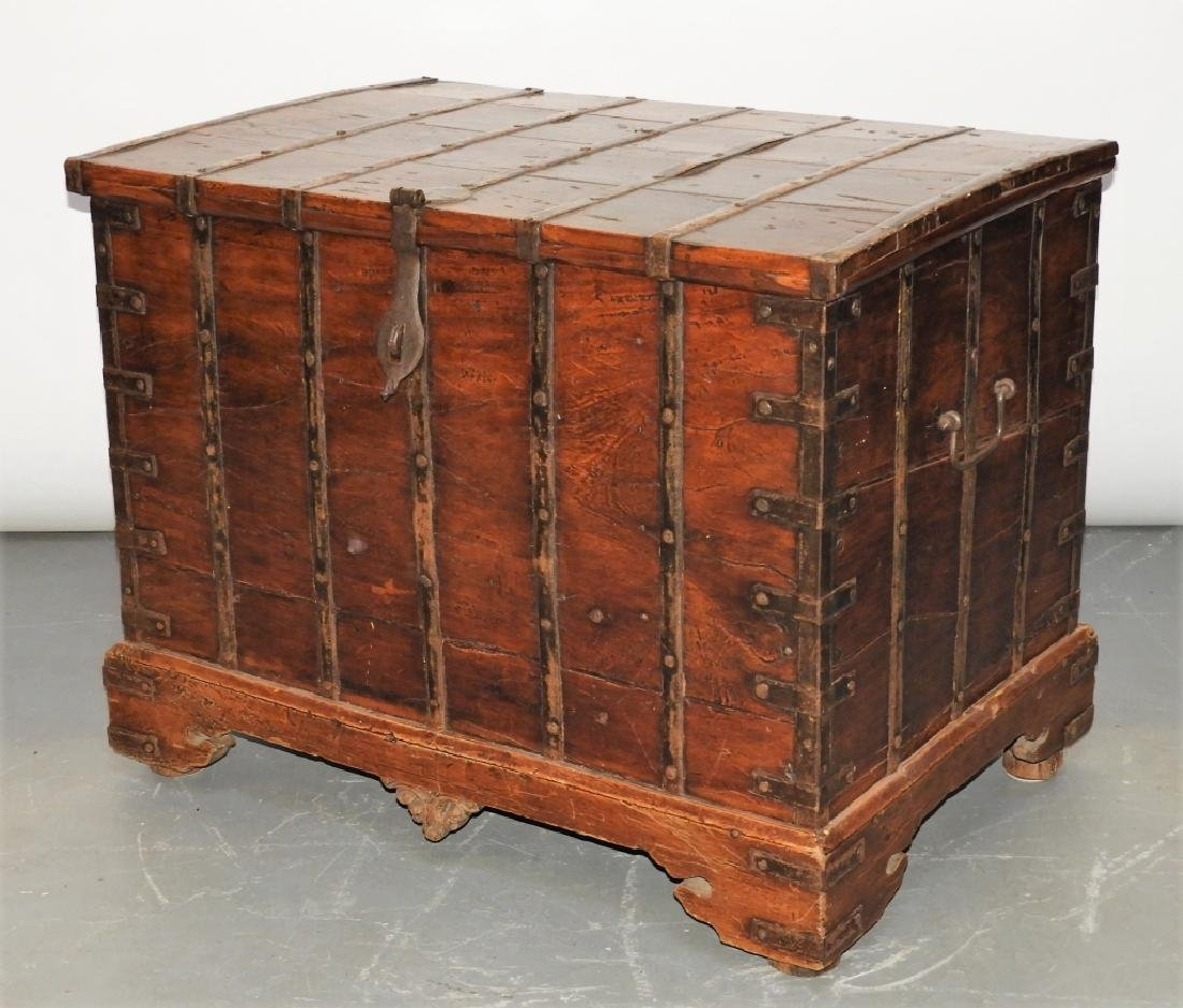 19C Anglo-Indian Hardwood Marriage Storage Chest