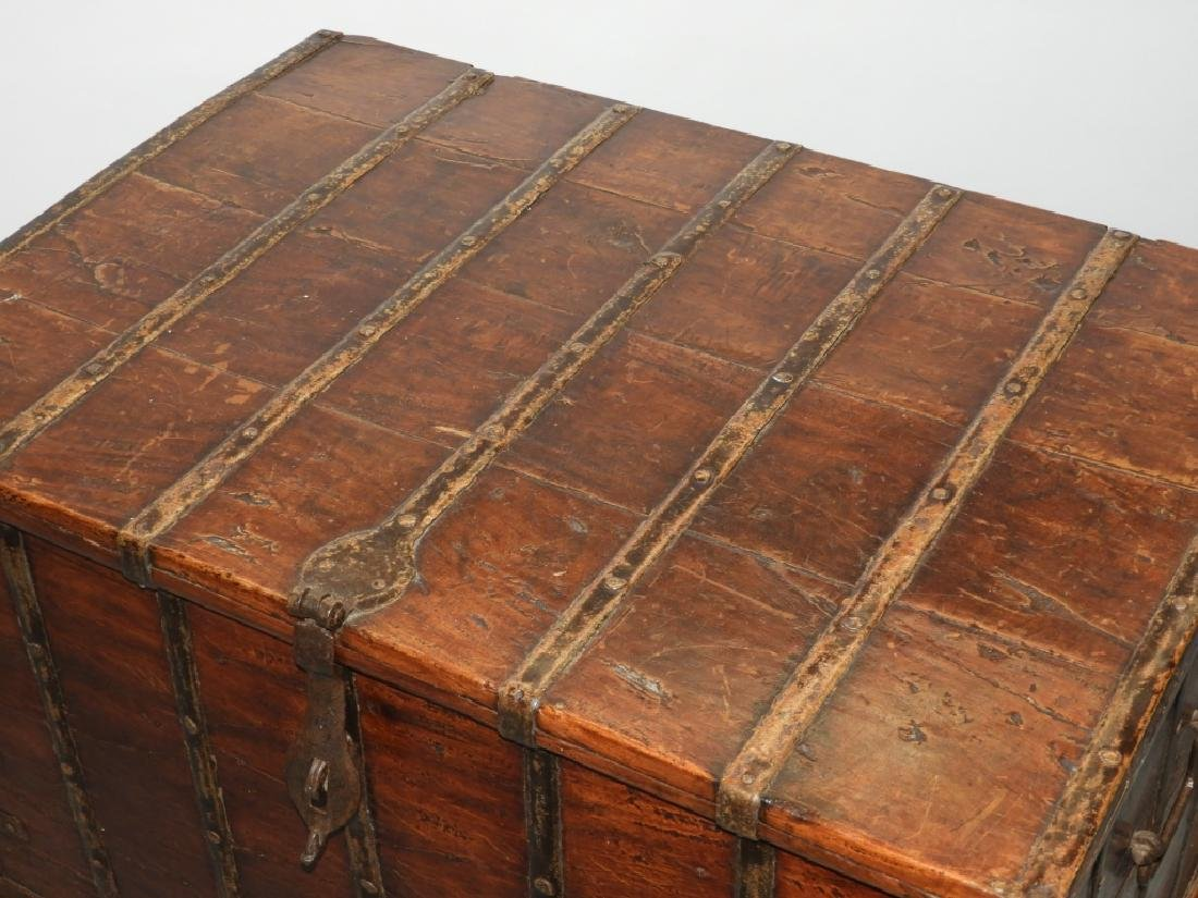 19C Anglo-Indian Hardwood Marriage Storage Chest - 2