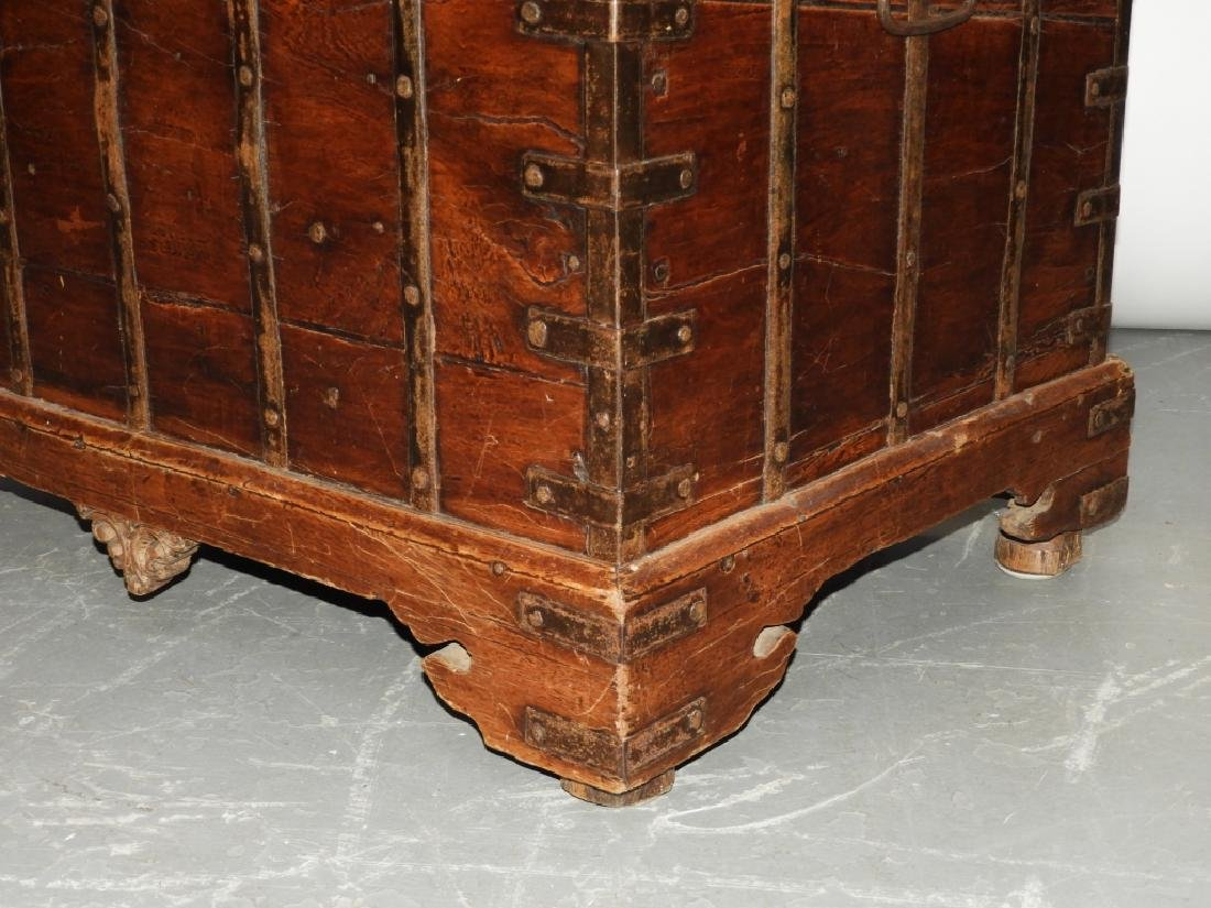 19C Anglo-Indian Hardwood Marriage Storage Chest - 4