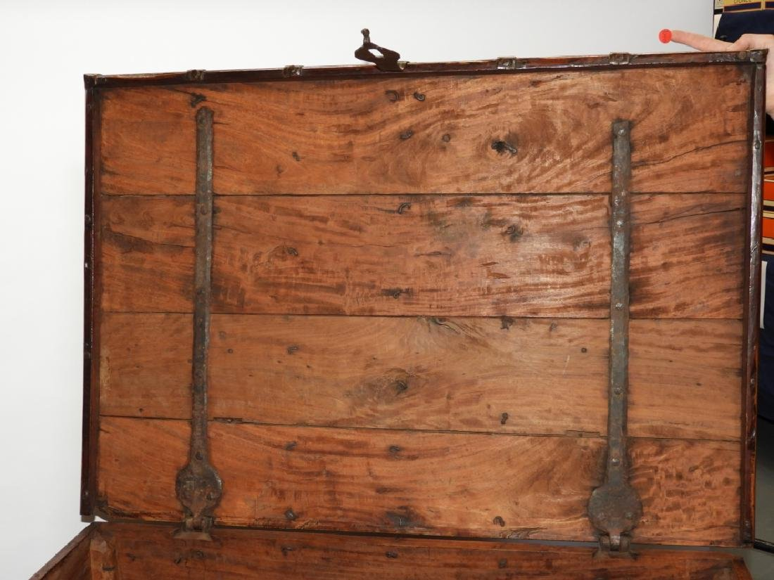 19C Anglo-Indian Hardwood Marriage Storage Chest - 5
