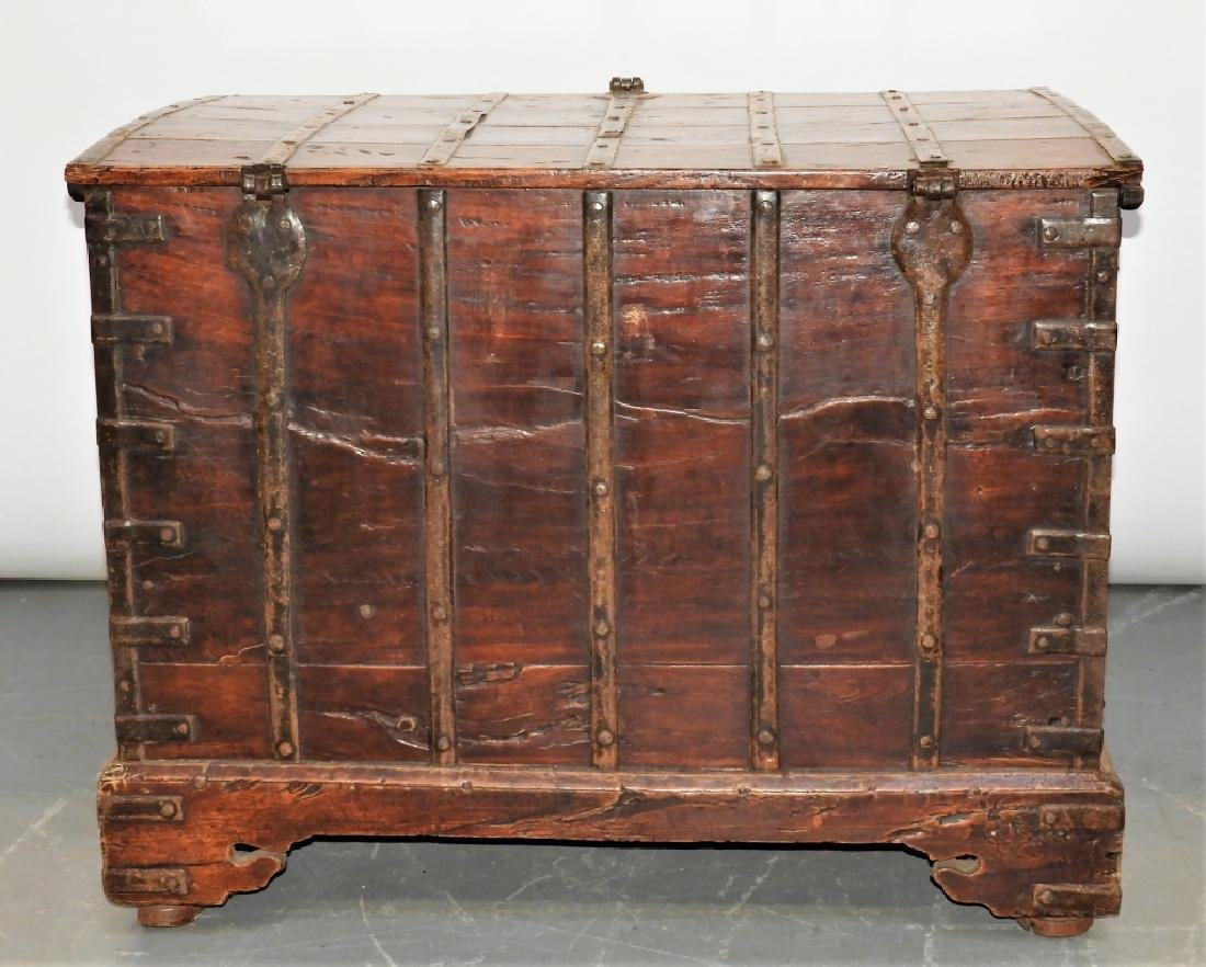 19C Anglo-Indian Hardwood Marriage Storage Chest - 7