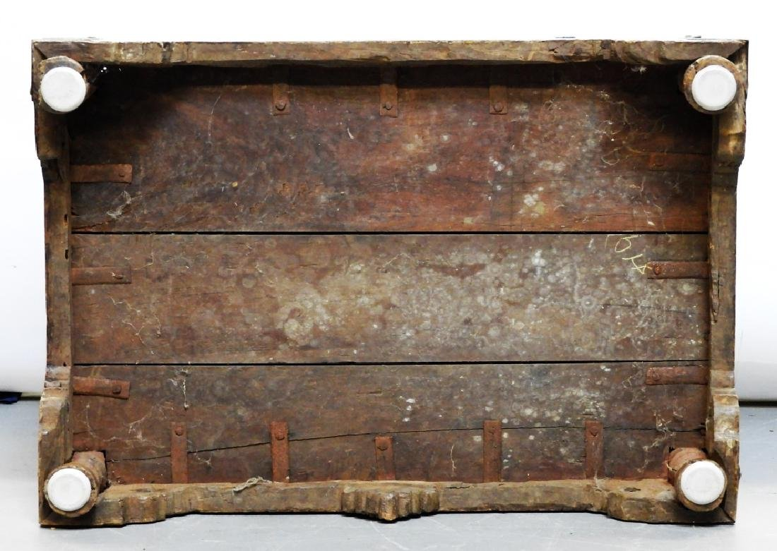 19C Anglo-Indian Hardwood Marriage Storage Chest - 8