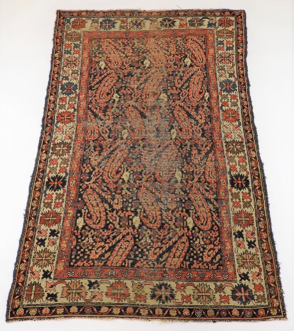 C.1900 Caucasian Oriental Malaya Carpet Rug
