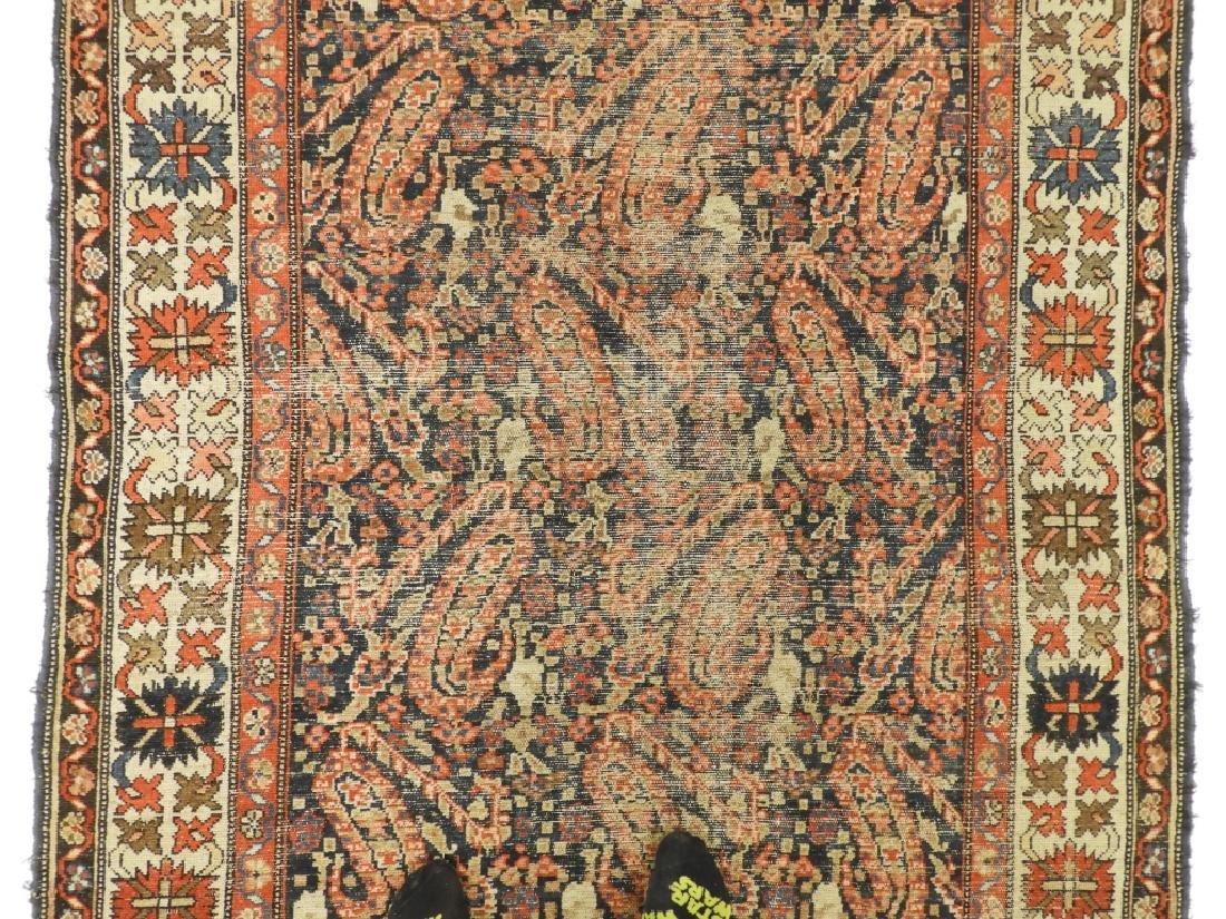 C.1900 Caucasian Oriental Malaya Carpet Rug - 3