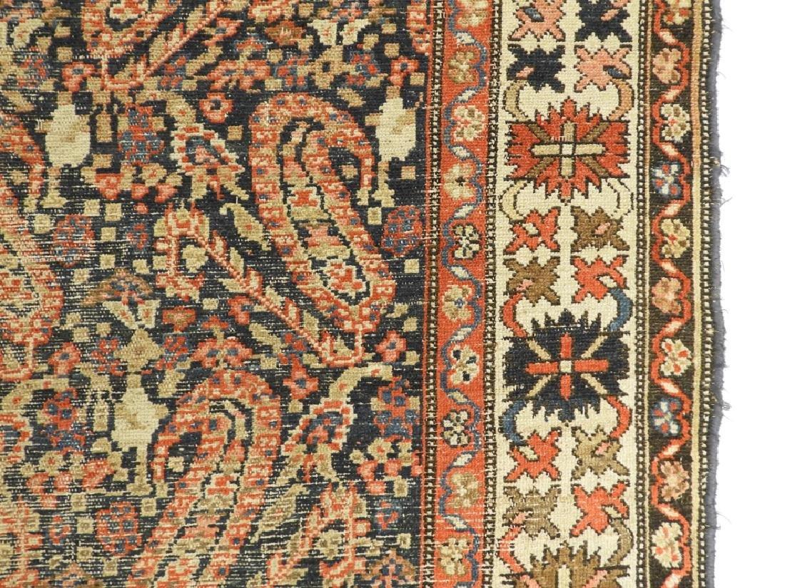 C.1900 Caucasian Oriental Malaya Carpet Rug - 6