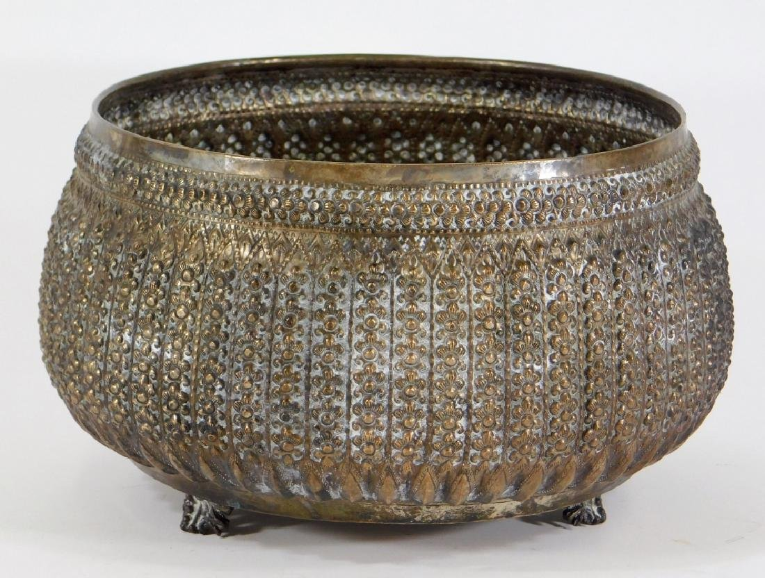 Middle Eastern Persian Silver Alloy Repousse Bowl