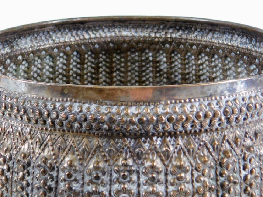 Middle Eastern Persian Silver Alloy Repousse Bowl - 3