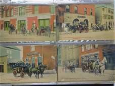 190 Antique Fire Fighter Chromo & Photo Post Cards