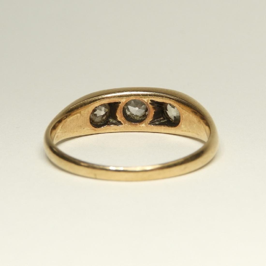 Modernist Design 14K Gold Diamond Ring - 5