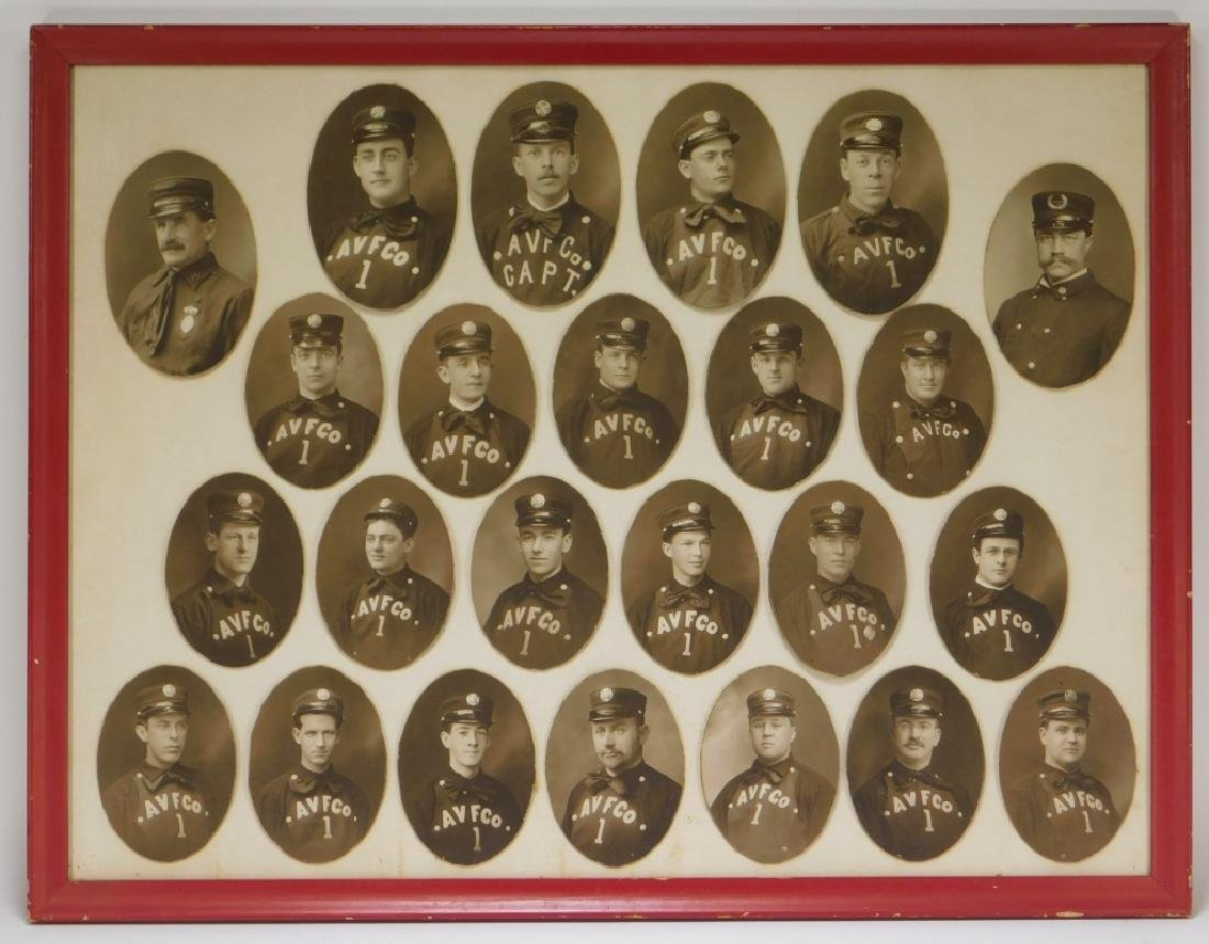 Early Rhode Island Fire Fighter Staff Photographs