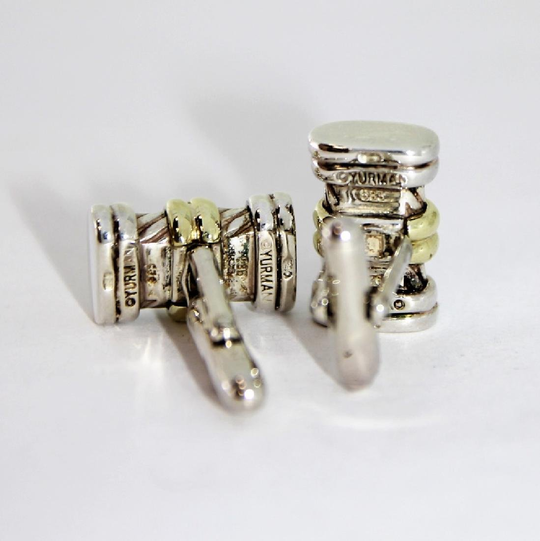 David Yurman 14K Gold S.S. Cable Cufflinks - 2