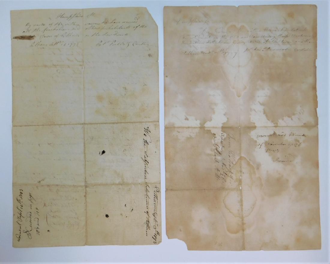 2 Letters Documents Pelham MA US Constitution 1787 - 2