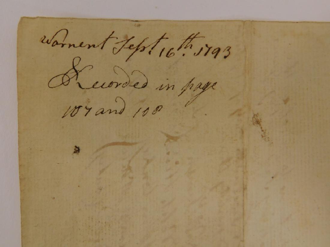 2 Letters Documents Pelham MA US Constitution 1787 - 3
