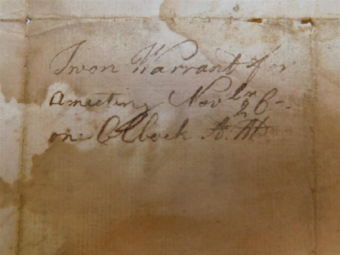 2 Letters Documents Pelham MA US Constitution 1787 - 6