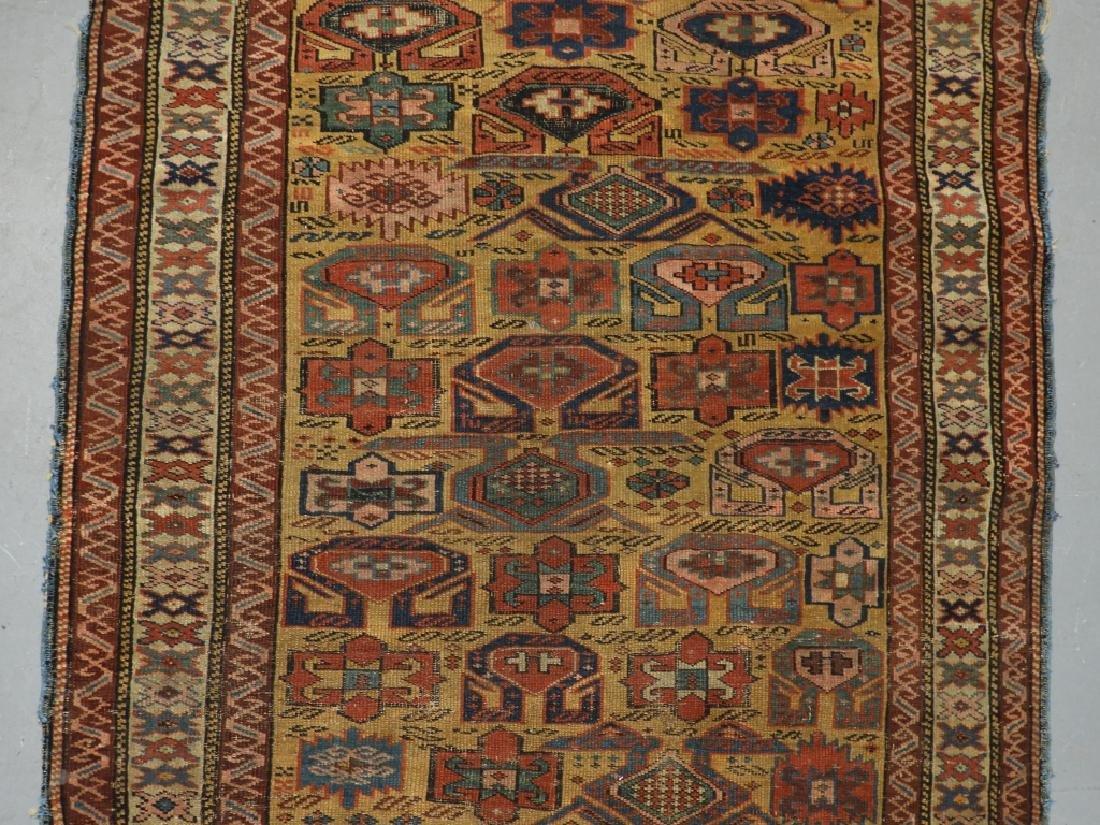 C.1890 Caucasian Oriental Geometric Carpet Rug - 2