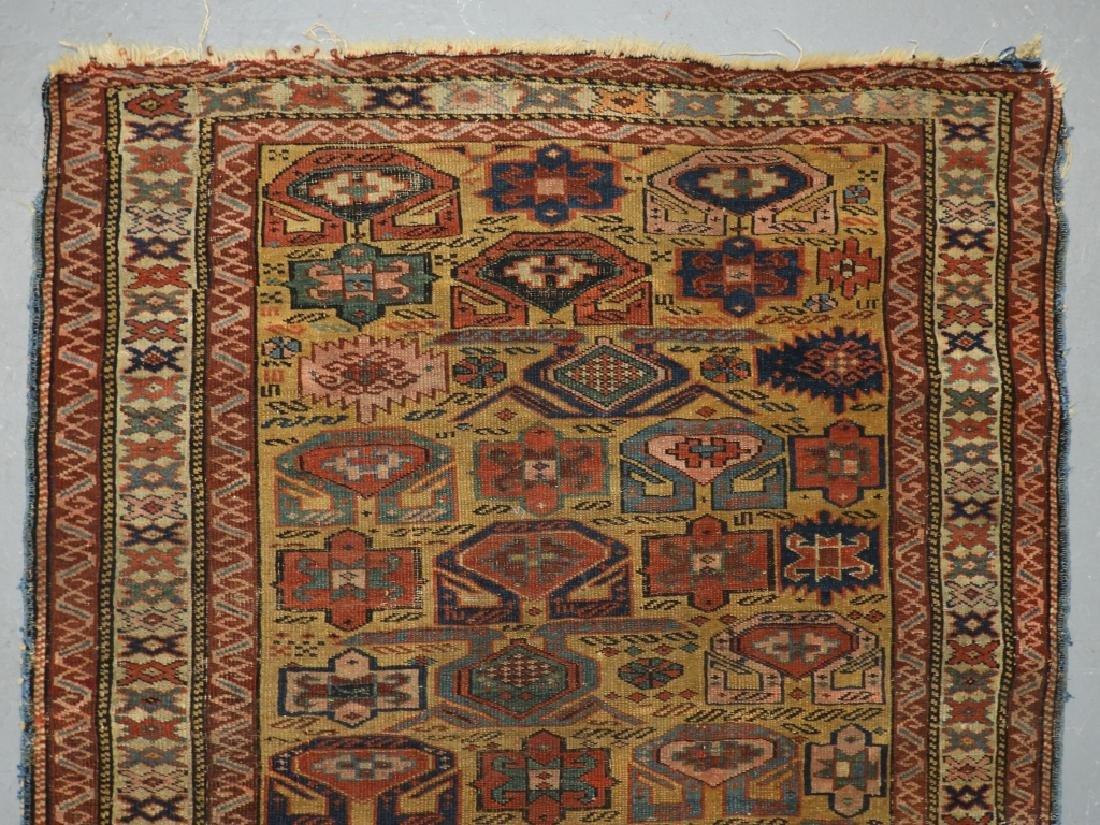 C.1890 Caucasian Oriental Geometric Carpet Rug - 3