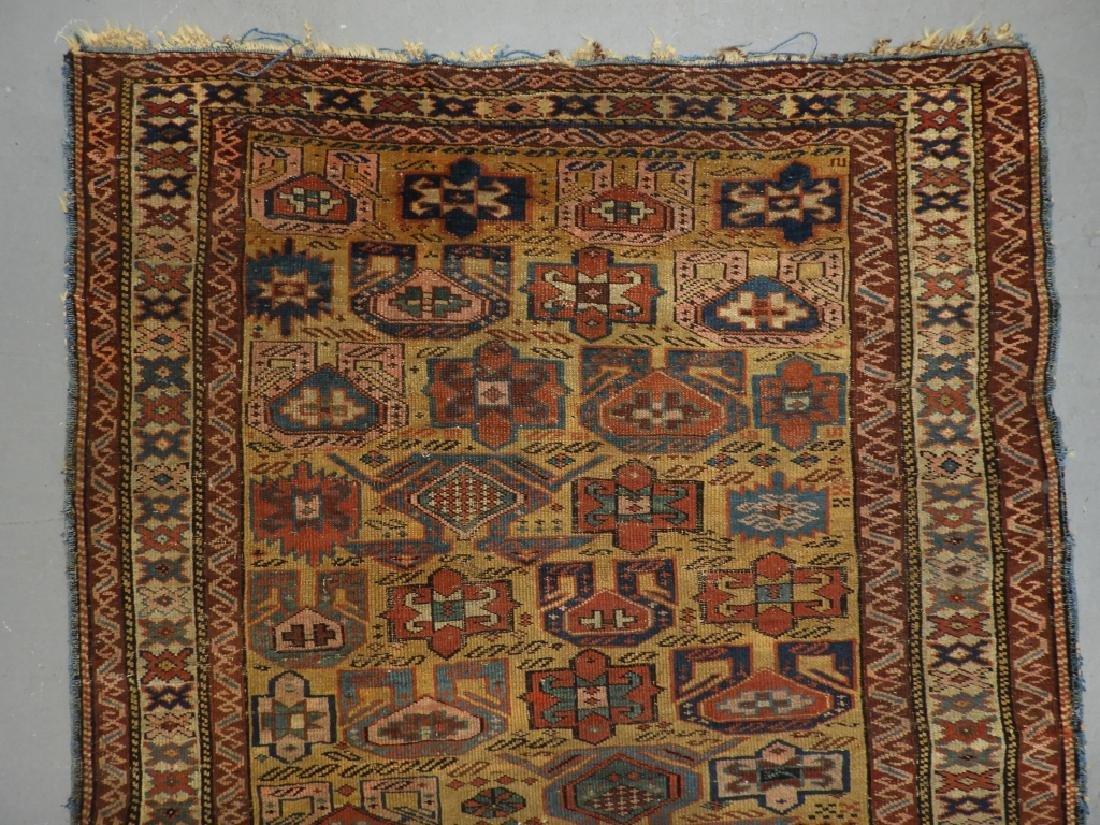 C.1890 Caucasian Oriental Geometric Carpet Rug - 4