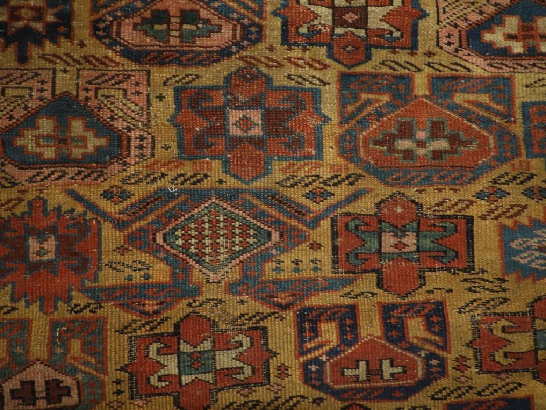 C.1890 Caucasian Oriental Geometric Carpet Rug - 5