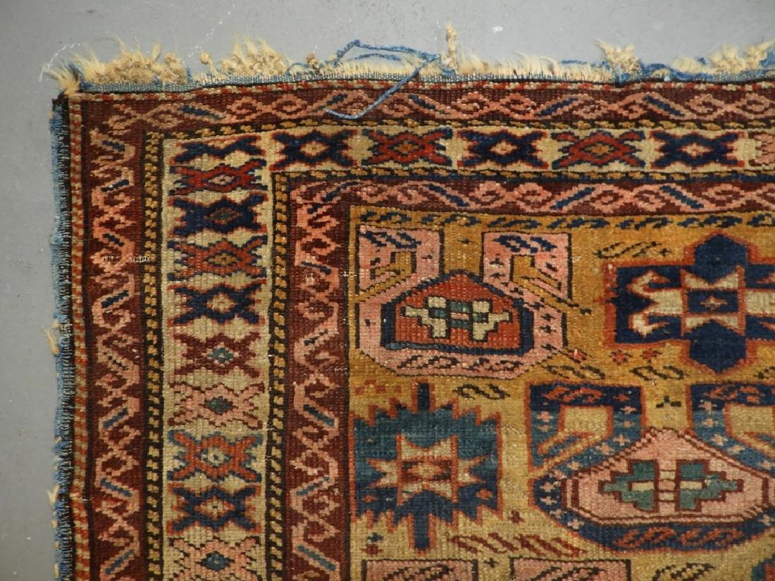 C.1890 Caucasian Oriental Geometric Carpet Rug - 6