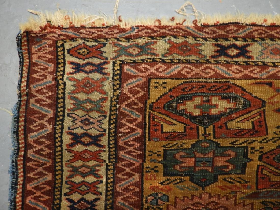 C.1890 Caucasian Oriental Geometric Carpet Rug - 7