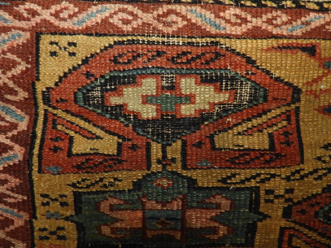 C.1890 Caucasian Oriental Geometric Carpet Rug - 8