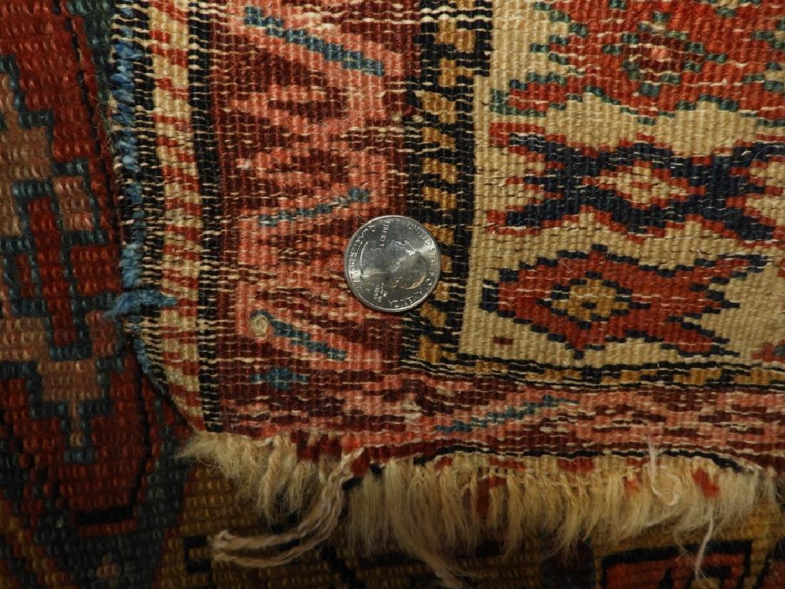 C.1890 Caucasian Oriental Geometric Carpet Rug - 9