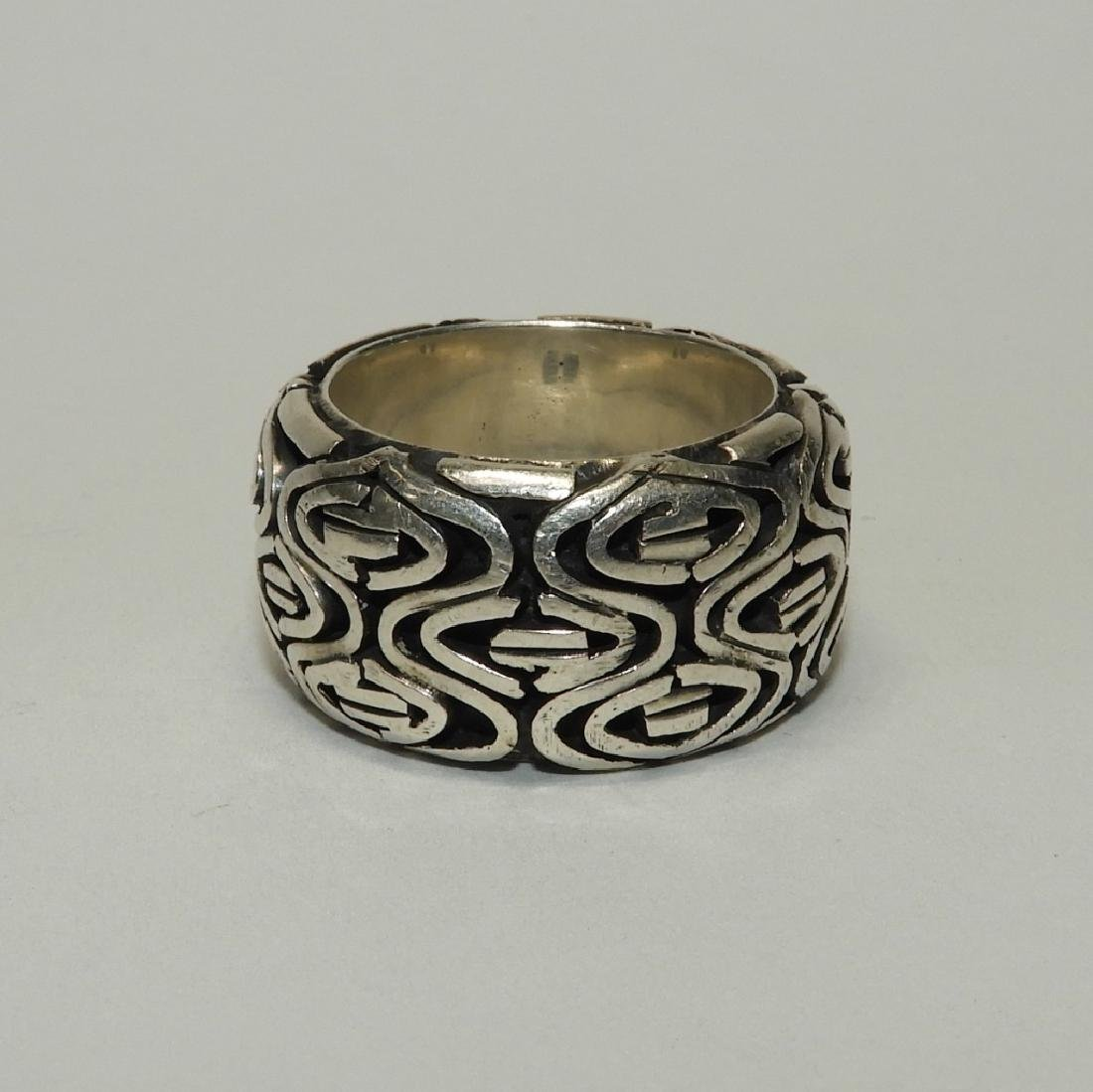 Fine & Heavy Sterling Silver Men's Fashion Ring