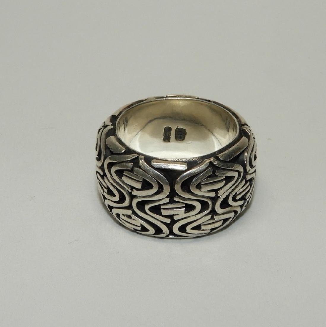 Fine & Heavy Sterling Silver Men's Fashion Ring - 2