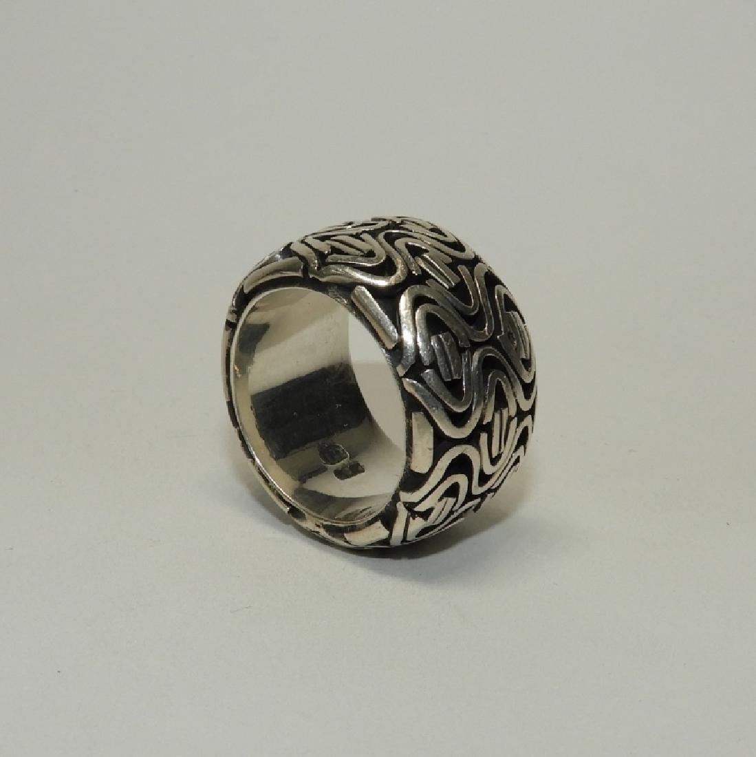 Fine & Heavy Sterling Silver Men's Fashion Ring - 3