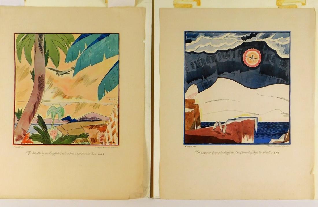 2 Wright Aeronautical Pioneer Airplane Posters