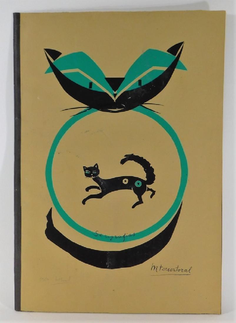 8 Maria Teresa Toral Misterio del Gato Serigraphs