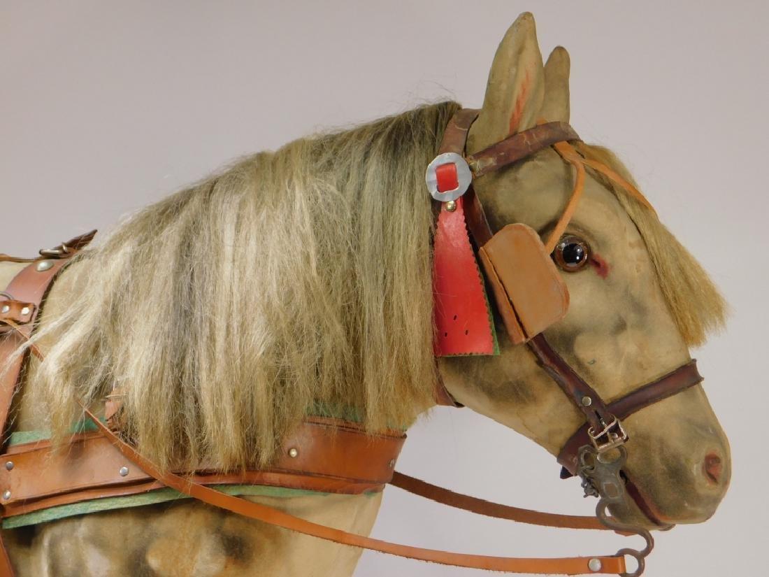 FINE C.1900 German Papier Mache Horse Ride On Toy - 2