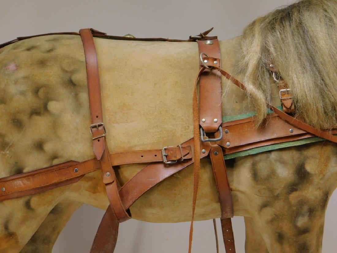 FINE C.1900 German Papier Mache Horse Ride On Toy - 4