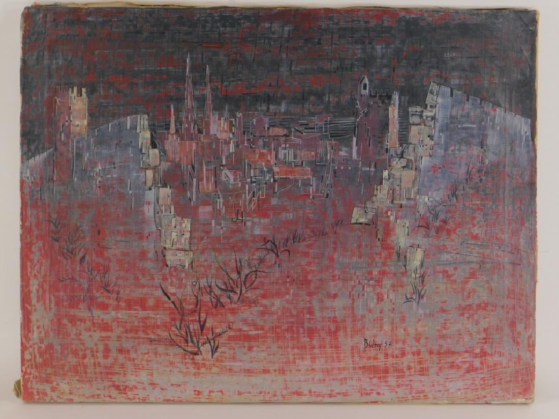 Jacques Bleny Synthetist Parisian Skyline Painting