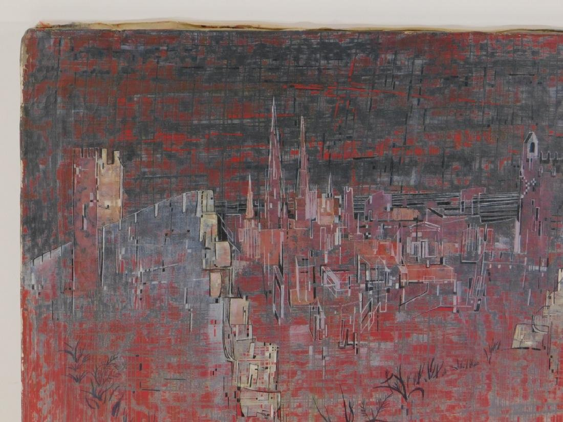 Jacques Bleny Synthetist Parisian Skyline Painting - 2