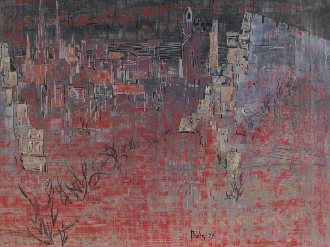 Jacques Bleny Synthetist Parisian Skyline Painting - 3