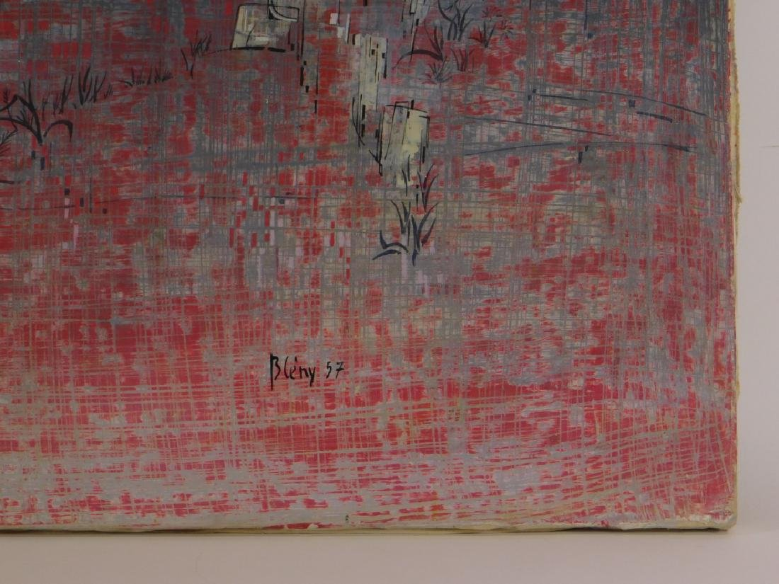 Jacques Bleny Synthetist Parisian Skyline Painting - 4