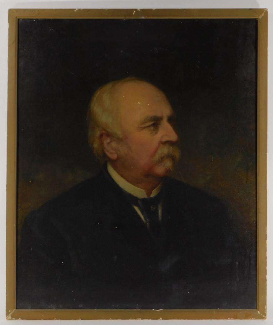 1886 Nicola Marschall Gentleman Portrait Painting